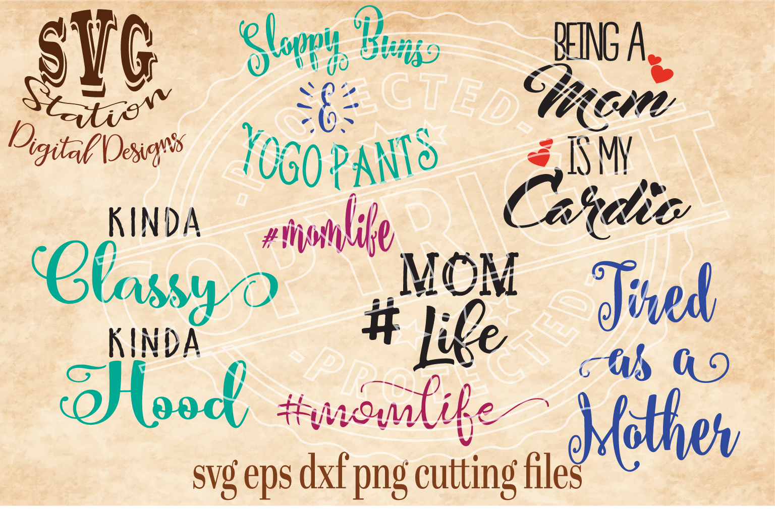 Mother Mom Bundle Cut File example image 1