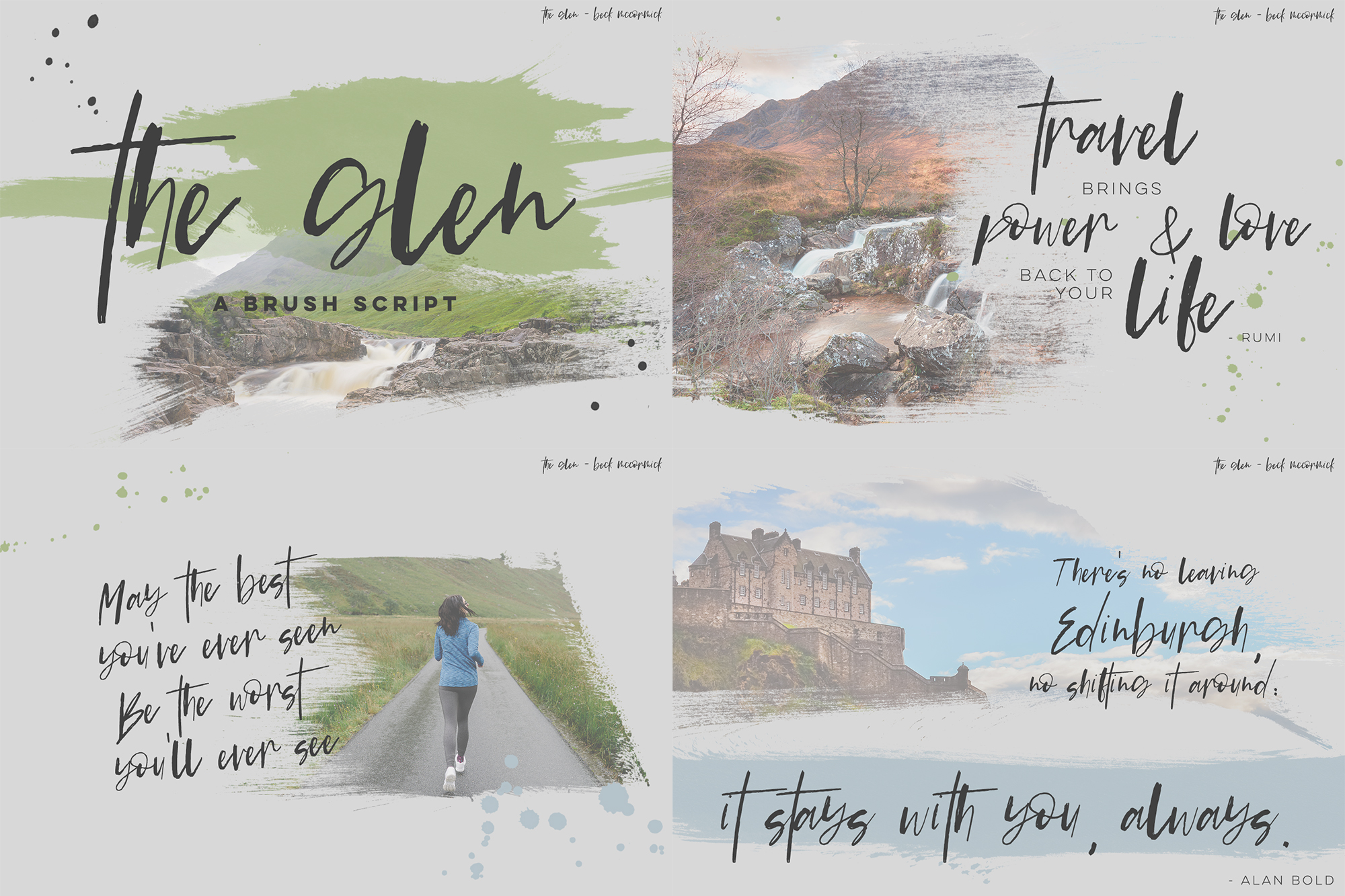 The Brush Font Bundle example image 4