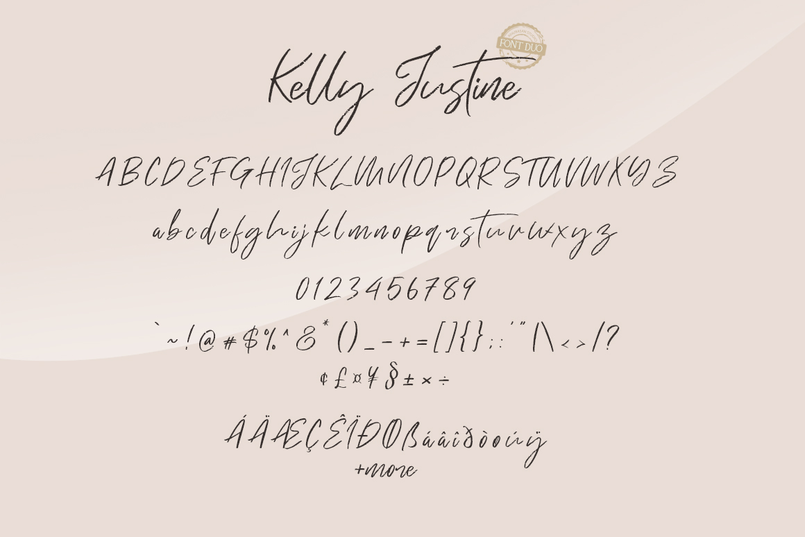 Just Kelly Justine Font Duo example image 7