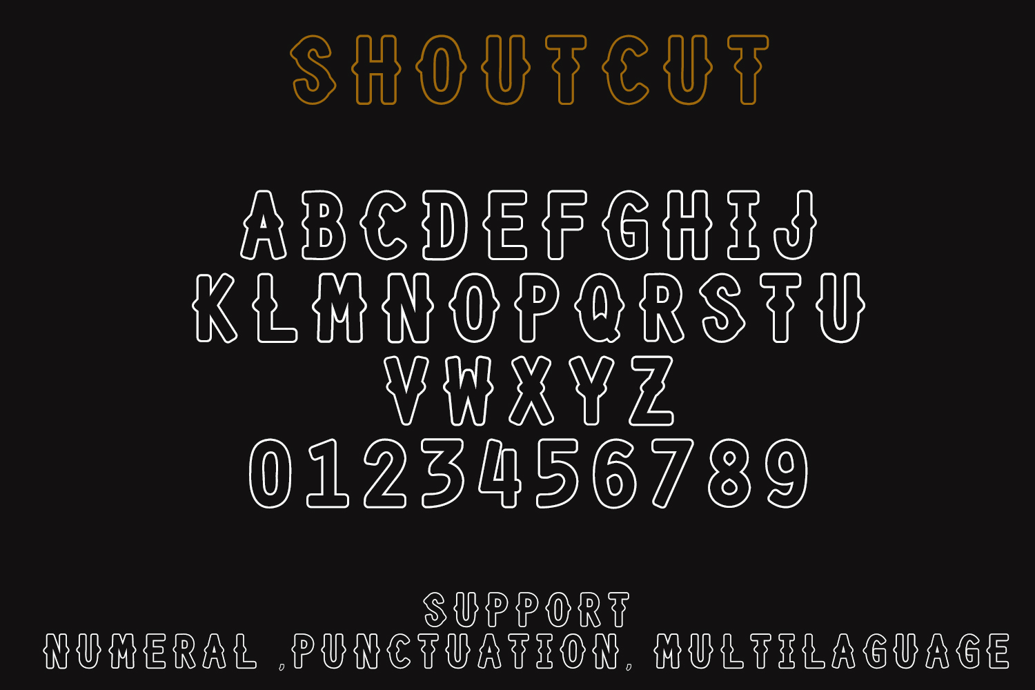 SHOURTCUT Typeface - Display Font example image 6
