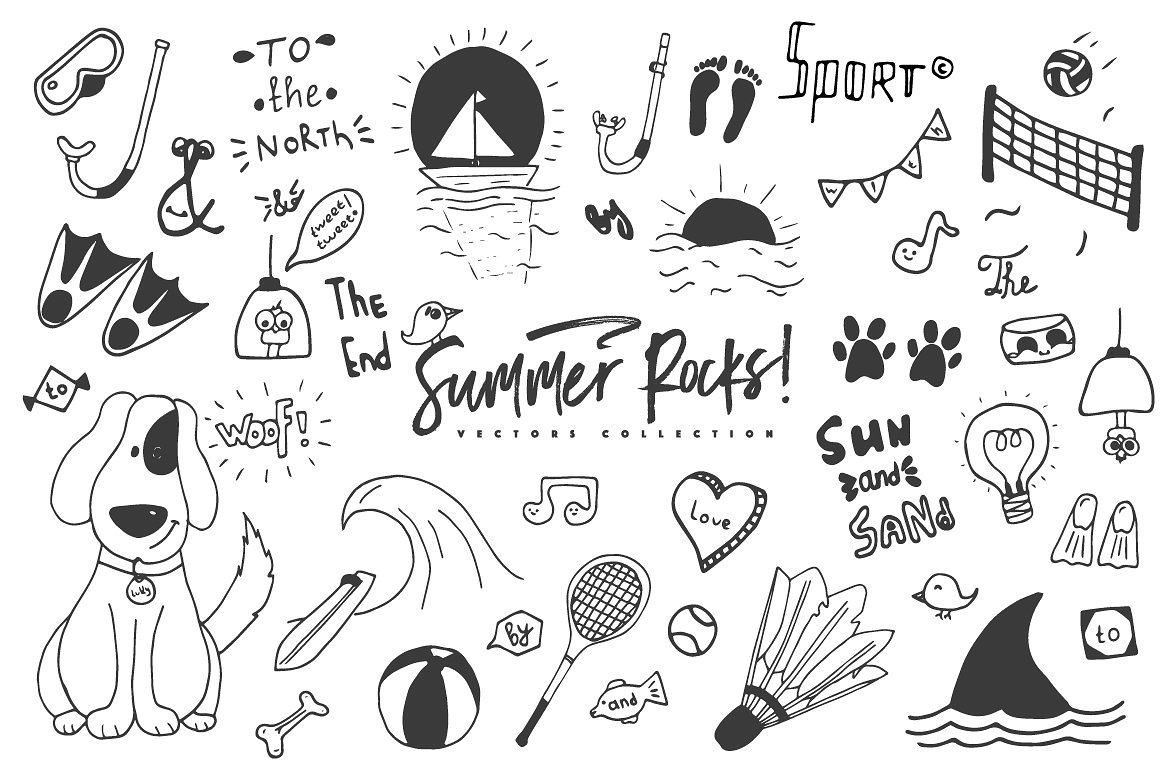 Summer Rocks! Vectors Collection example image 9