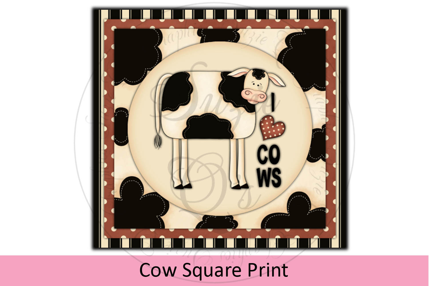 Cow Square Print example image 1