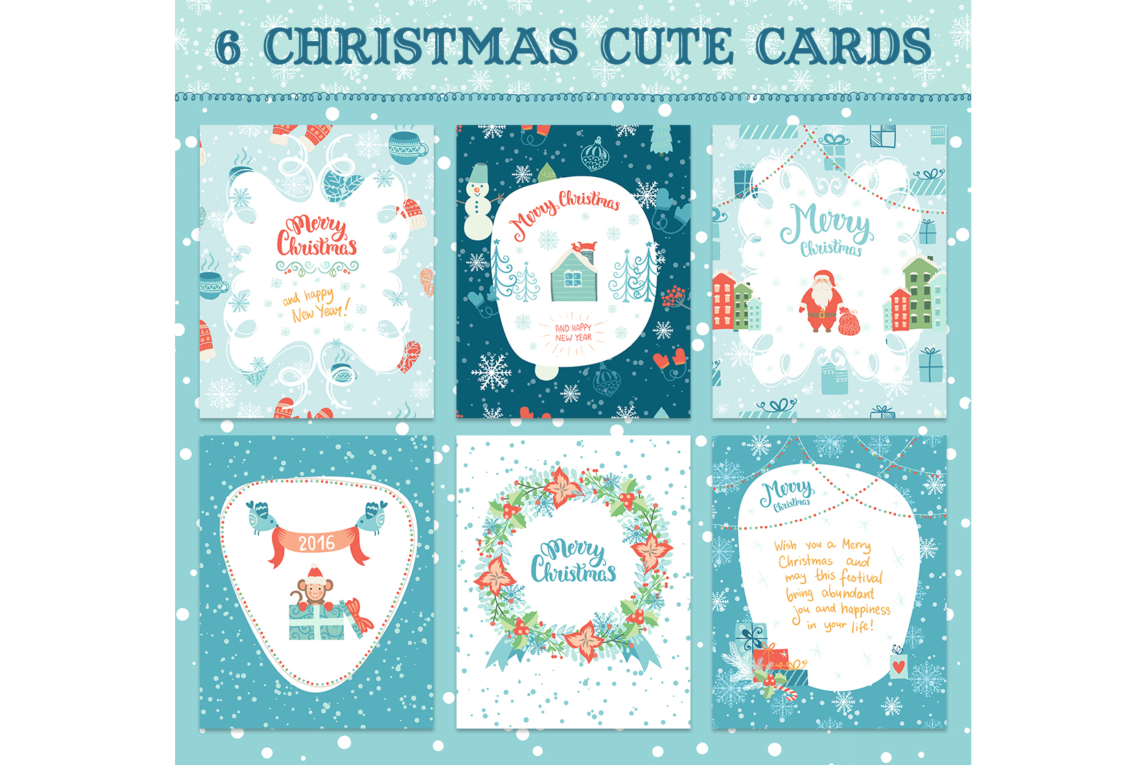 Big Christmas elements collection example image 4