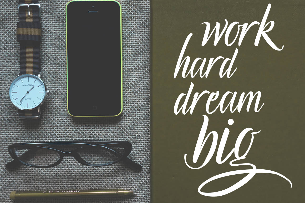 Lucky Dream Bold Font Duo  Swash example image 8