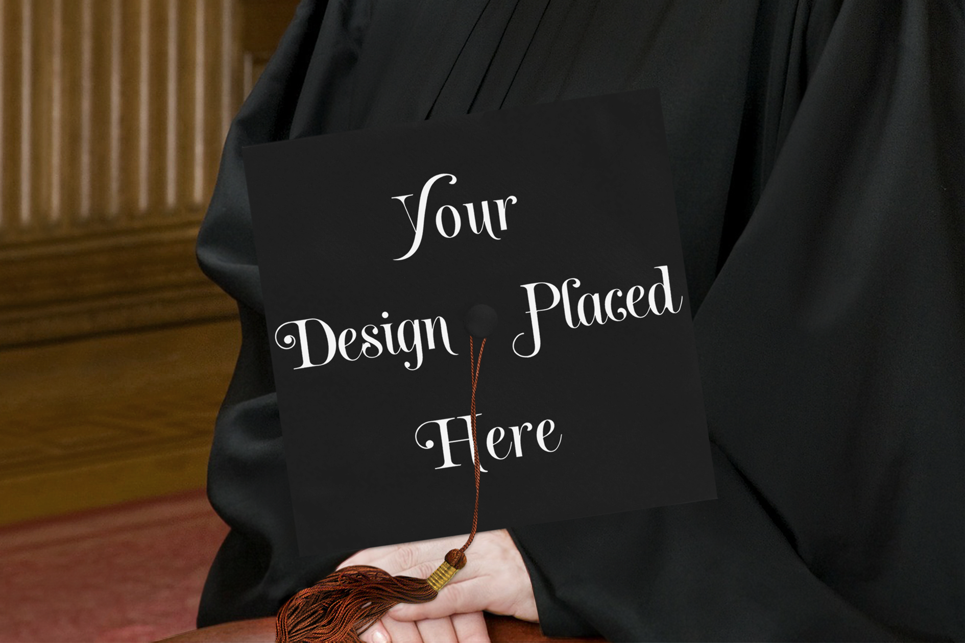 Graduation Cap Mockup, A Cap & Gown Mockup with Smart Object example image 2