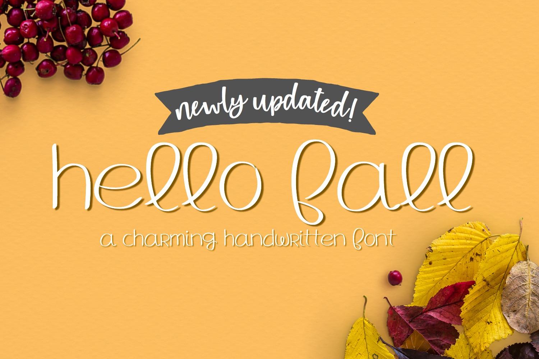 Hello Fall - Handwritten Font example image 1