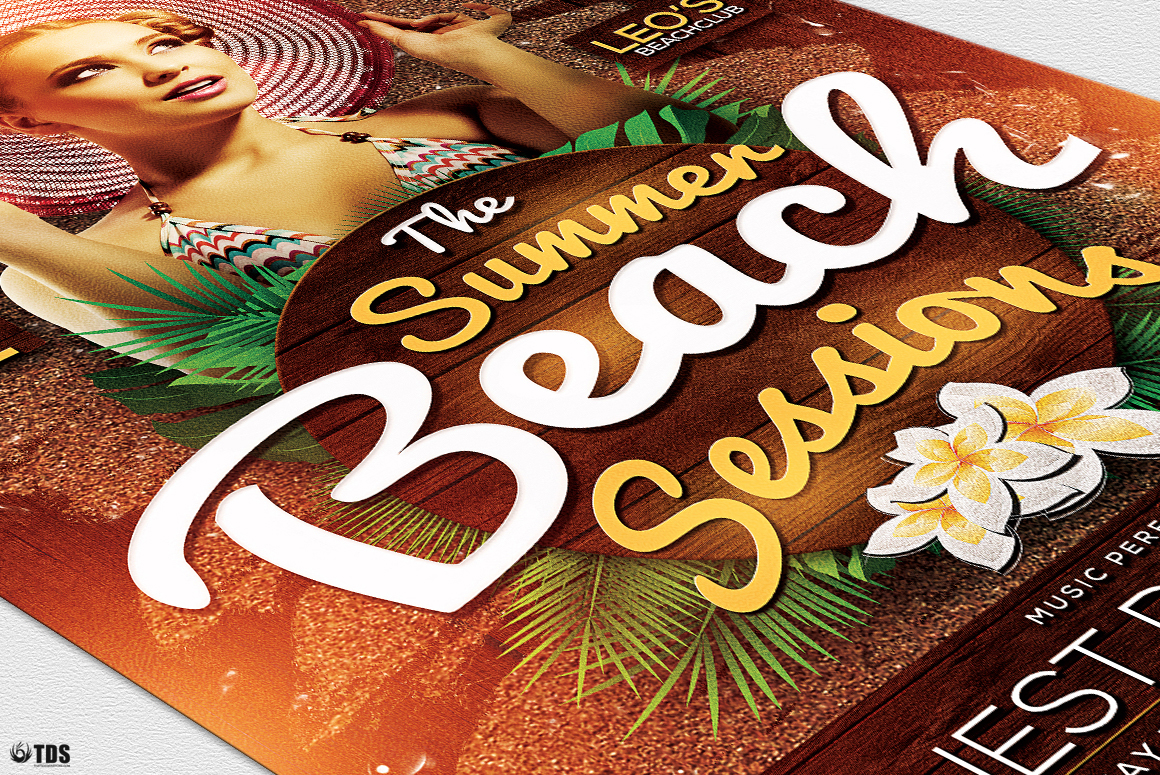 Summer Beach Flyer Template V3 example image 2