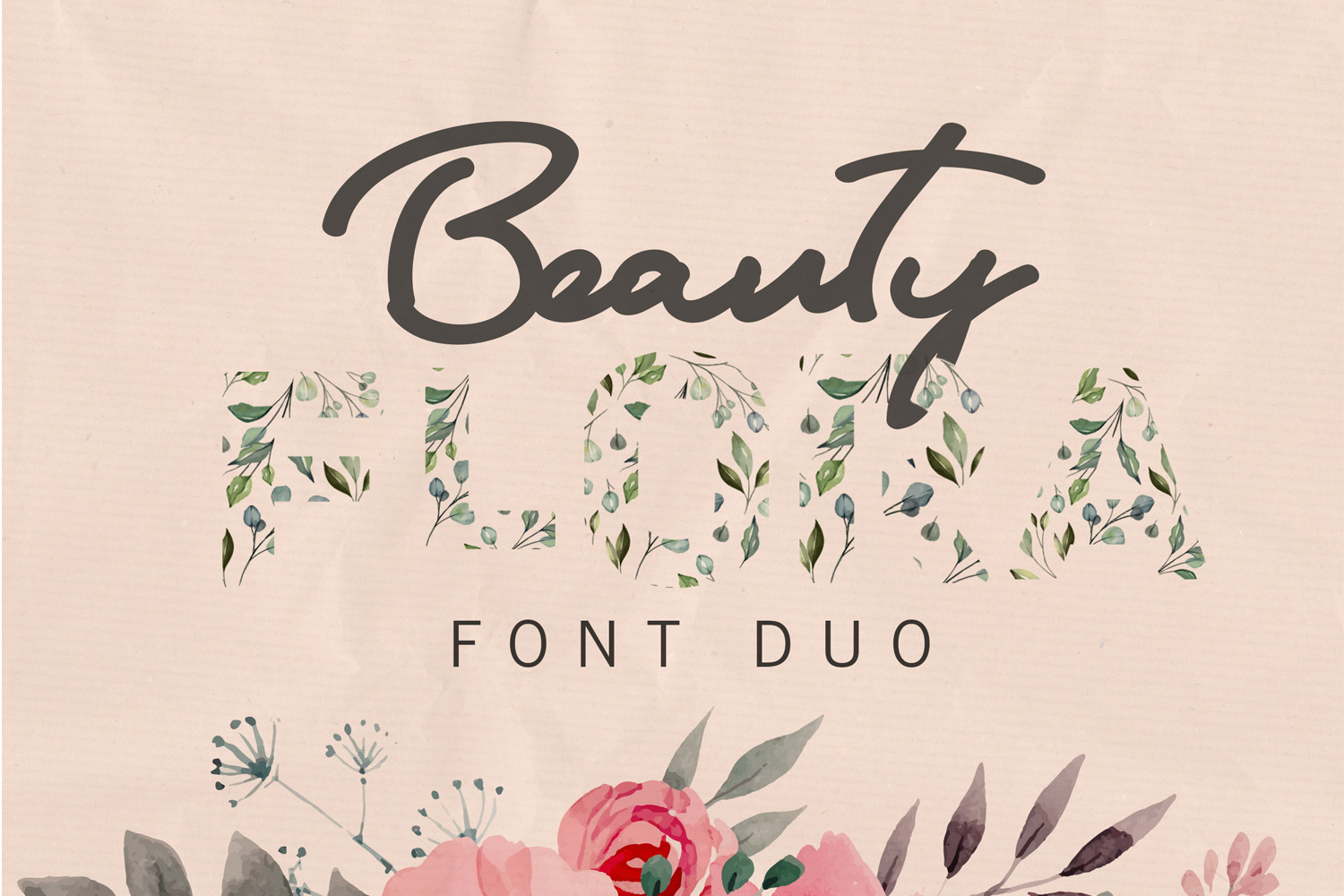 Flora Font Duo example image 1