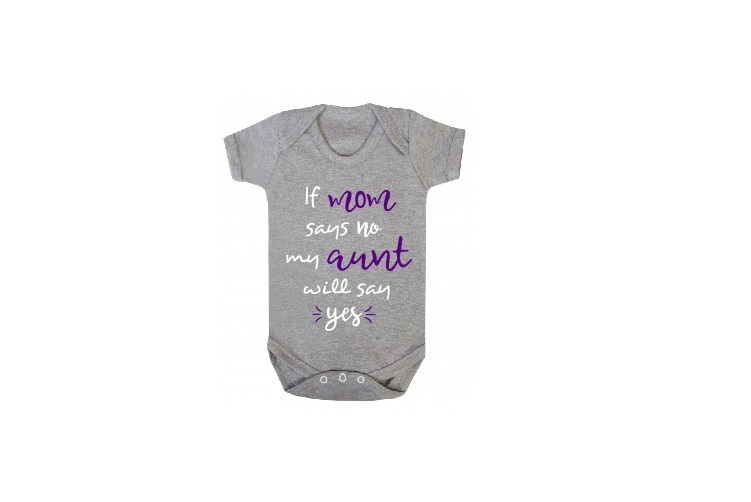 If Mom Says No Aunt Will Say Yes Svg, Baby Svg, Aunt Svg example image 2