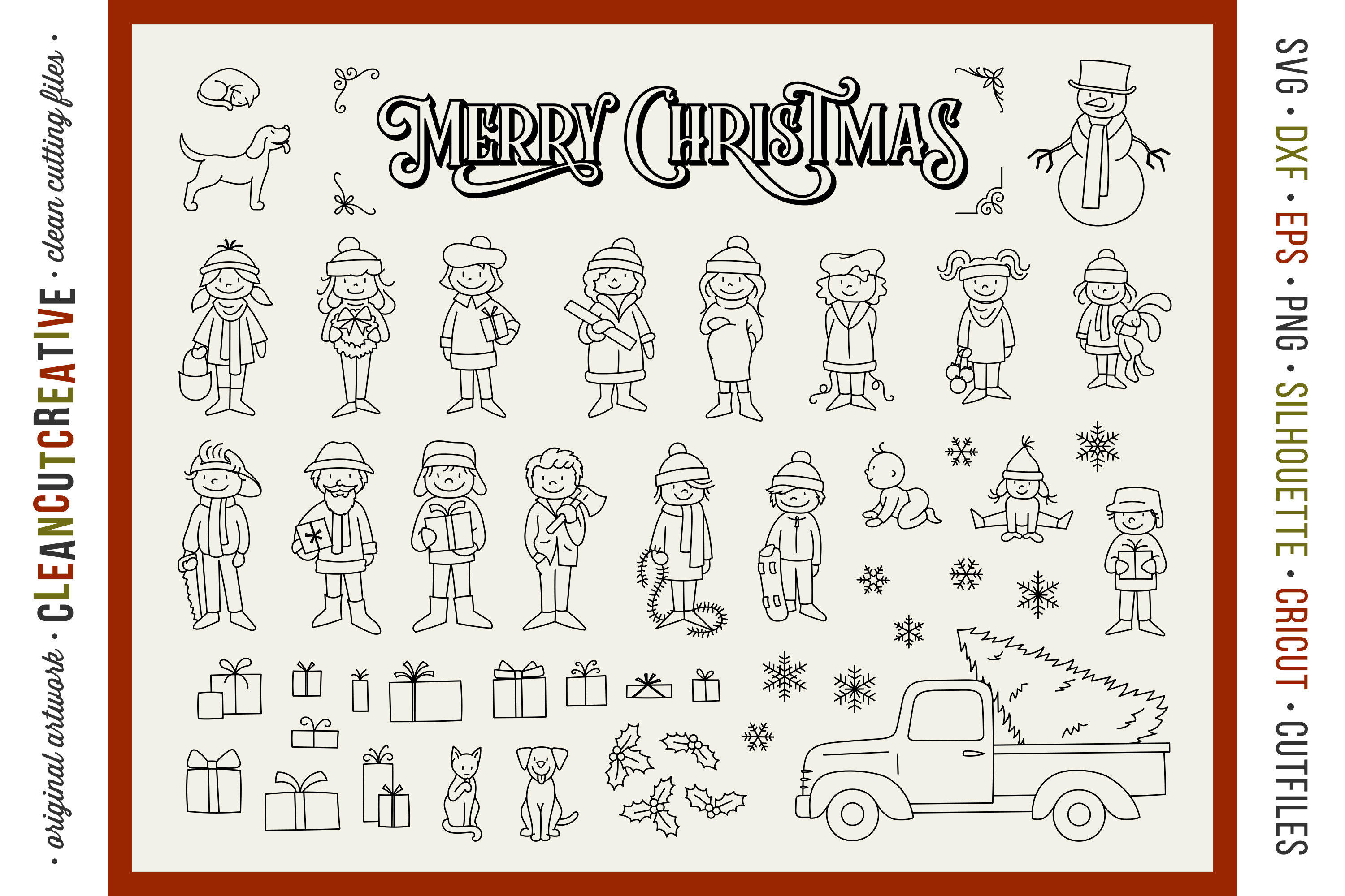 Foil Quill Edition - Cute Christmas Clan - family figures example image 3