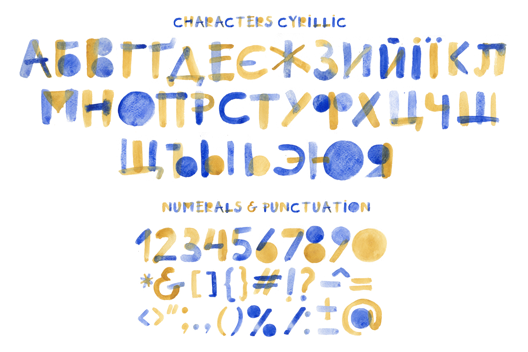 Summertime bitmap color font example image 5