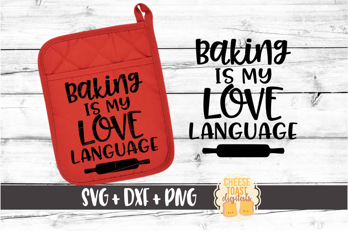 Pot Holder Bundle - Oven Mitt SVG PNG DXF Cut Files example image 3
