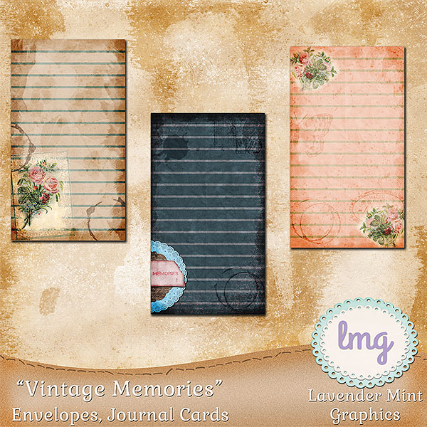 Vintage Memories Junk Journal Envelopes example image 4