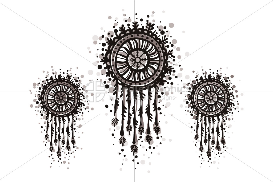 Dream Catcher - Freehand Organic Shapes Decorative Graphics example image 2