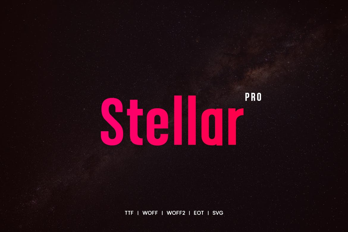 Stellar - Modern Typeface with WebFonts example image 1