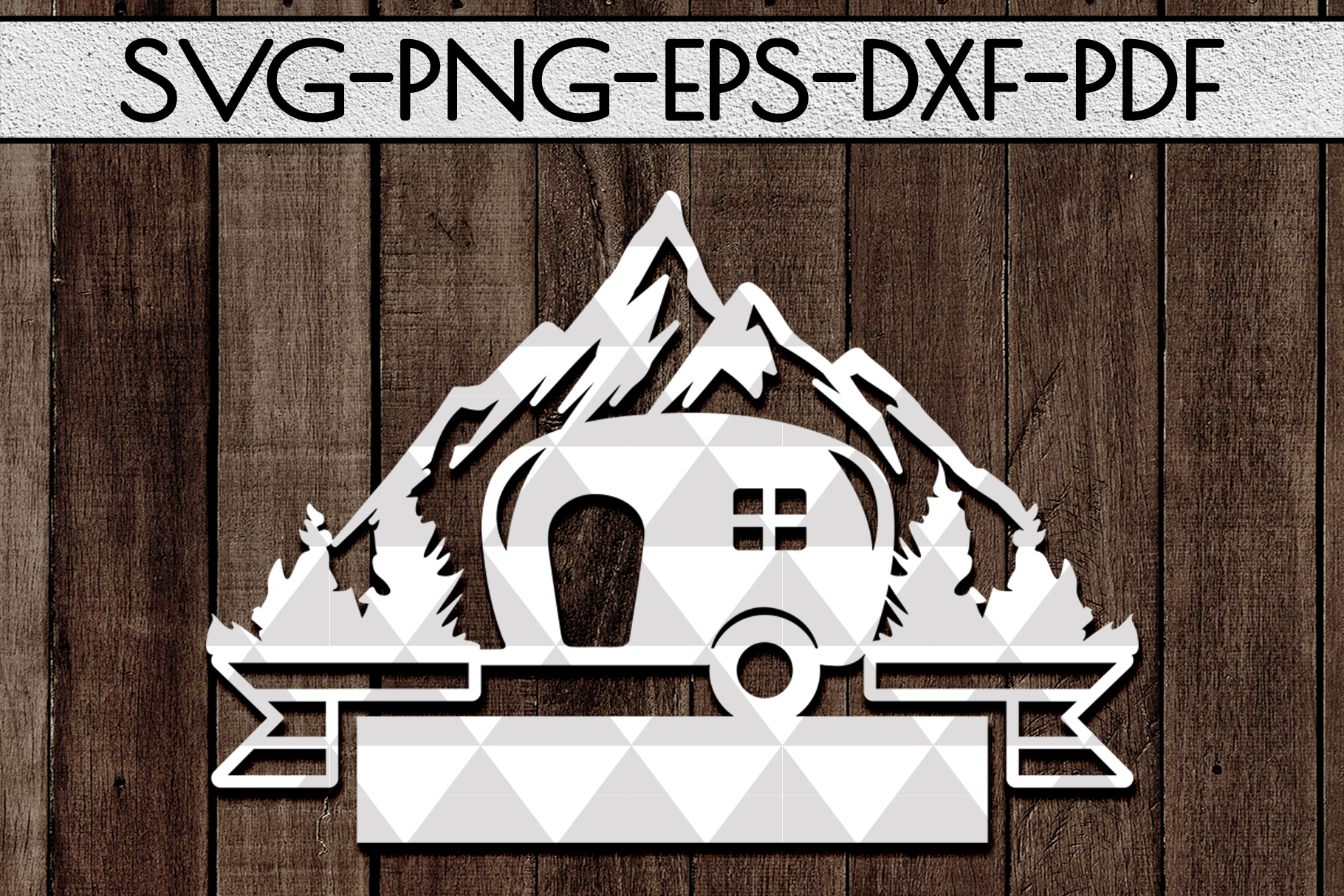 Camping Sign Papercut Templates Bundle, Adventure SVG, DXF example image 8