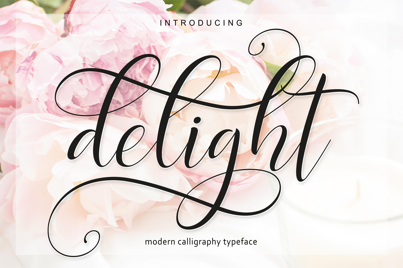 Delight Script | 4 Font example image 3