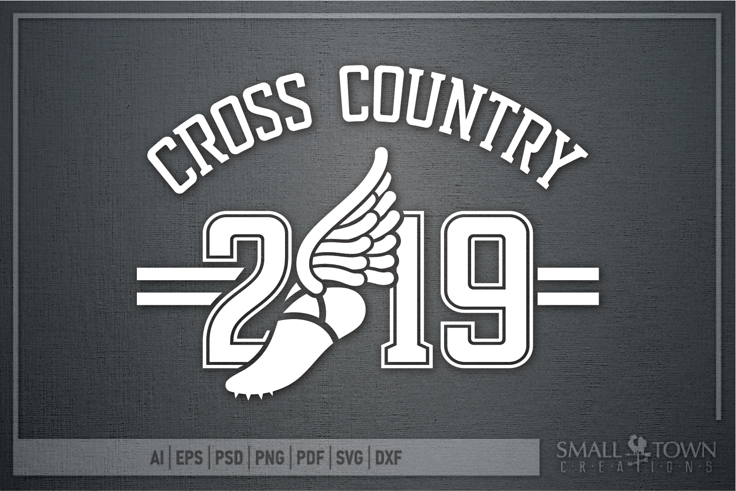 Cross Country, Running logo, Winged shoe, PRINT, CUT, DESIGN example image 5