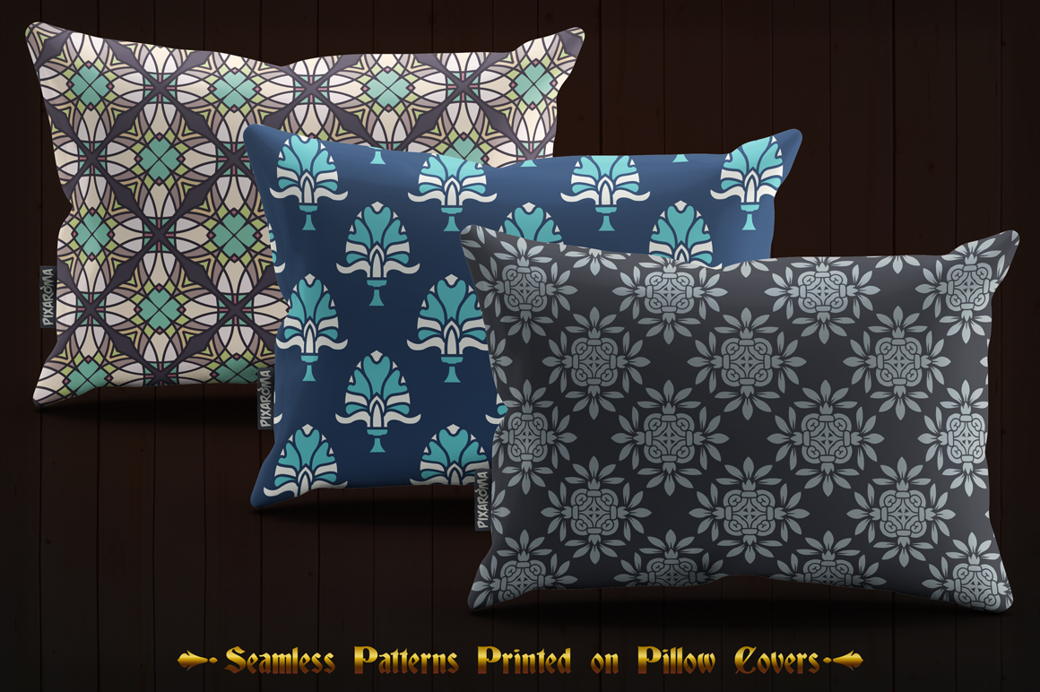 123 Vintage Seamless Vector Patterns example image 5