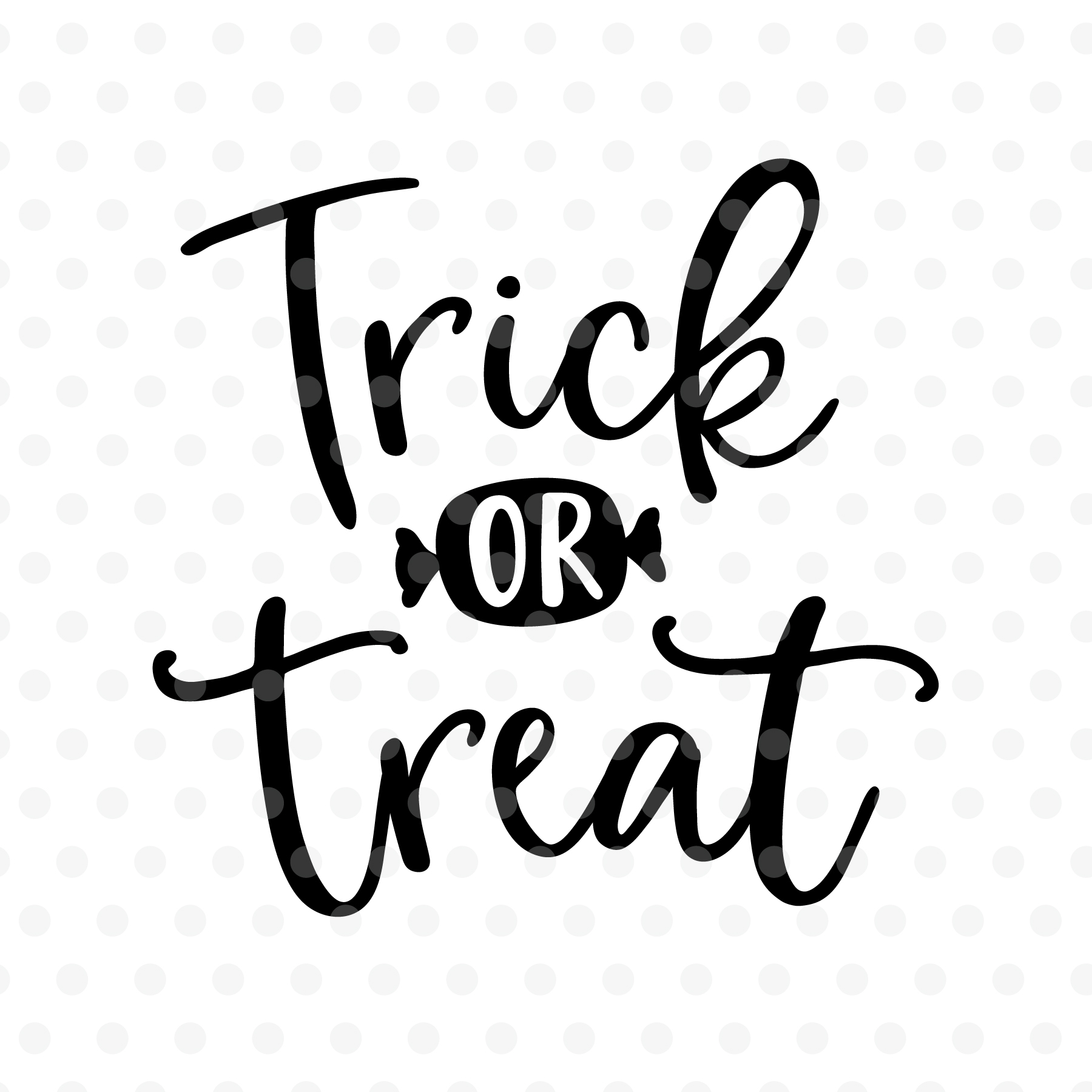 Trick or treat Halloween SVG, EPS, PNG, DXF example image 2