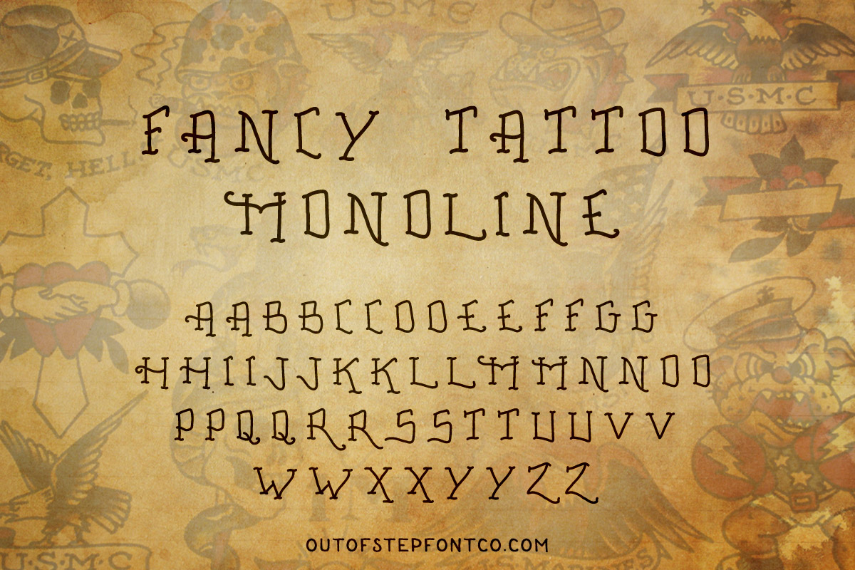 Tattoo Font Collection example image 9