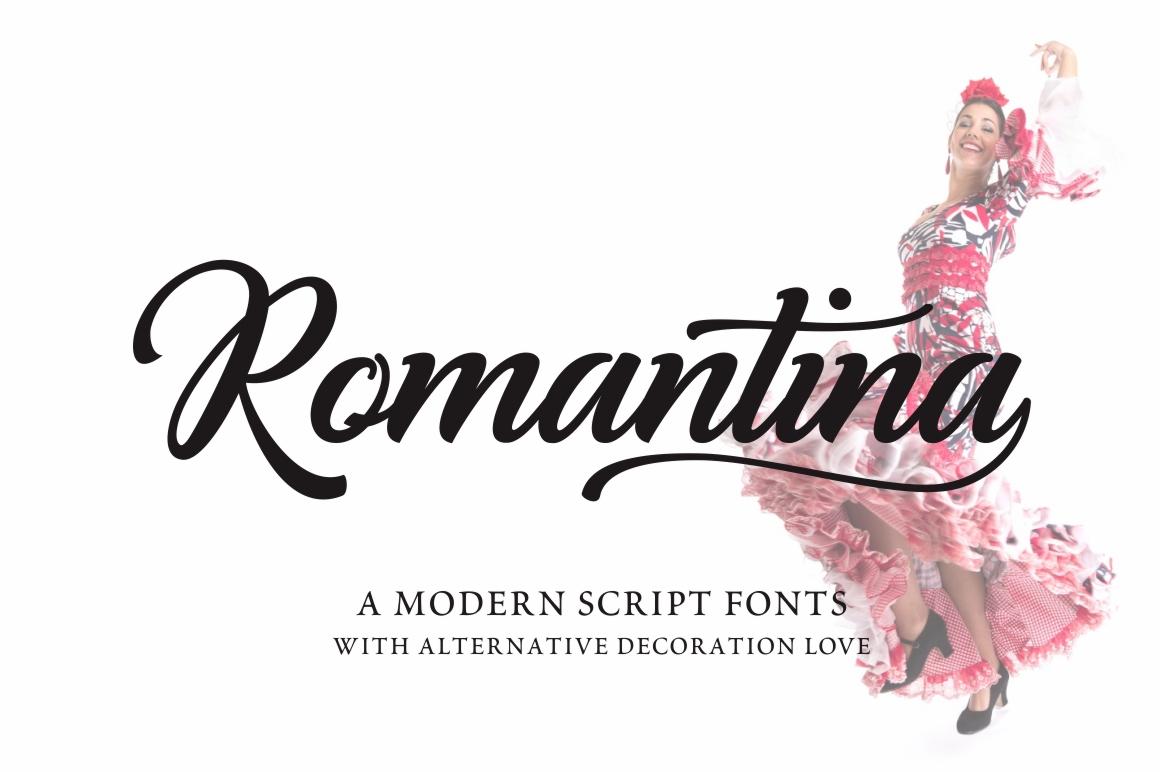Romantina Font example image 5