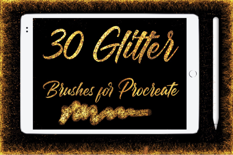 Glitter Brushes for Procreate example image 1