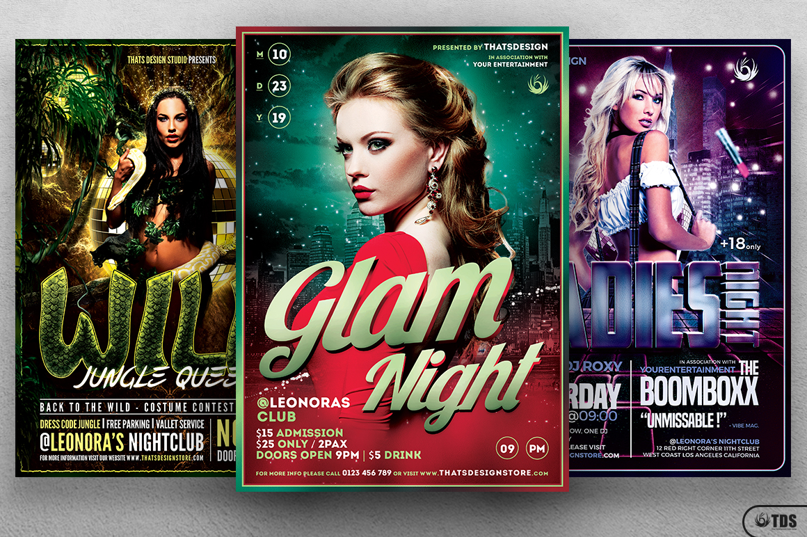 Ladies Night Flyer Bundle V2 example image 1