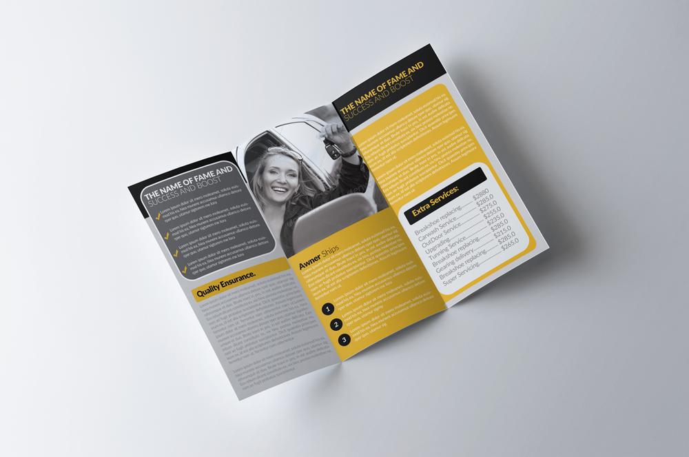 Automobile Service Tri-Fold Brochure Template  example image 4