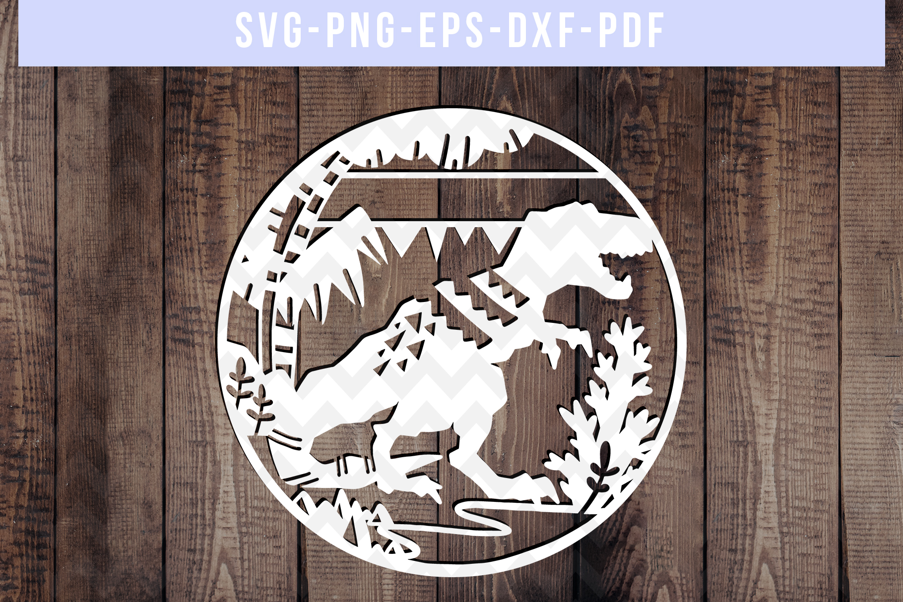 Customizable Dinosaur Papercut Template, T-Rex SVG, DXF, PDF example image 3
