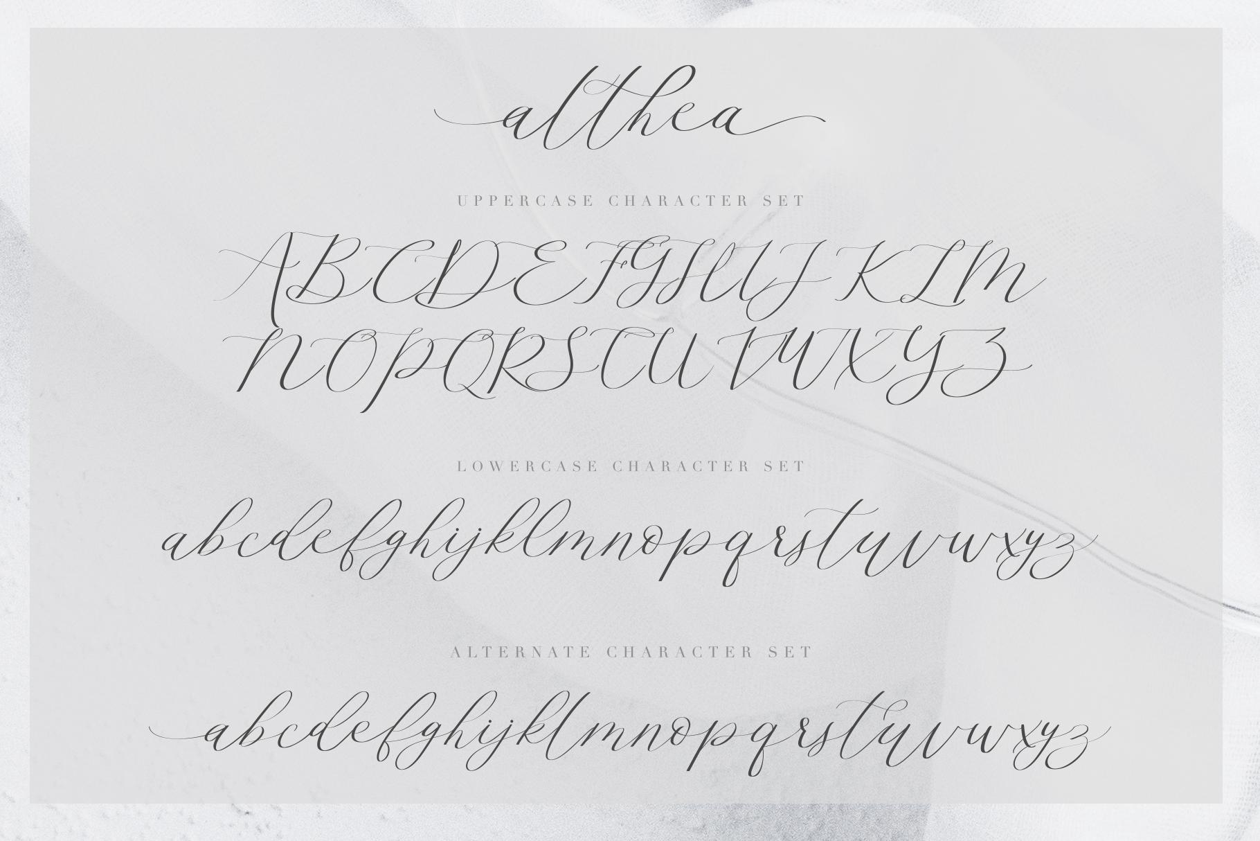 Althea Script example image 9