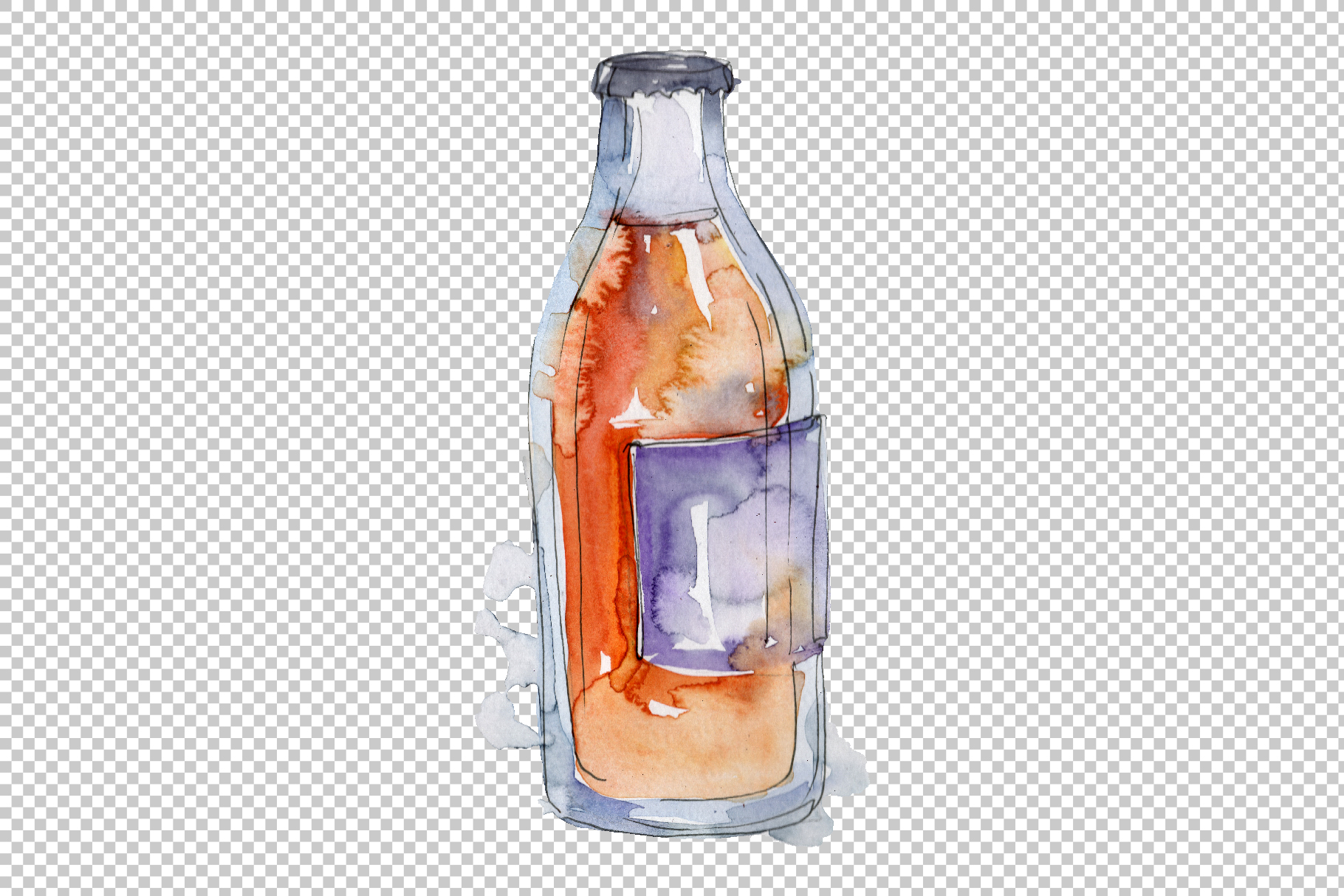 Drinks Juliet Watercolor png example image 3