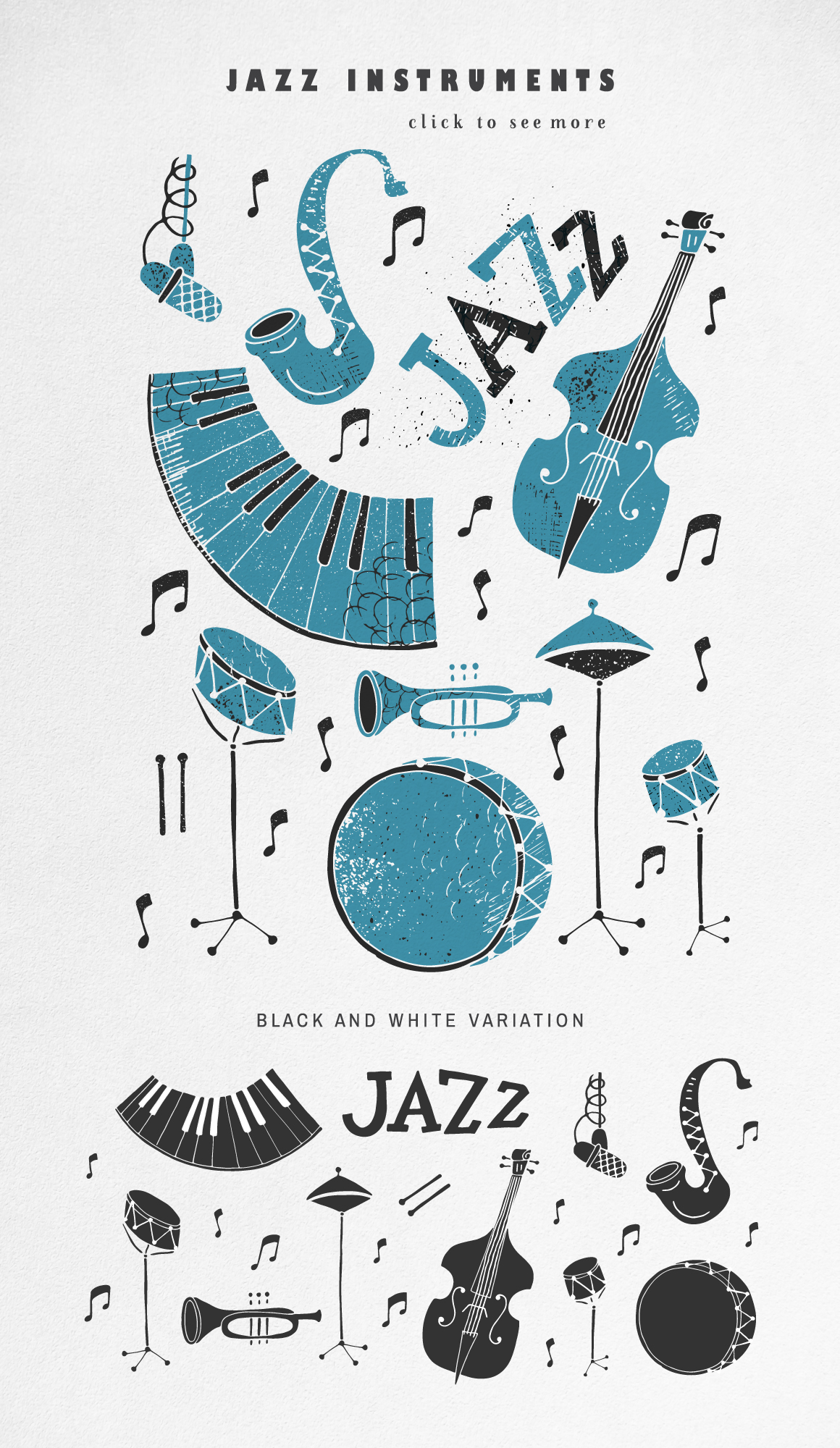 Jazz Music vector collection example image 2