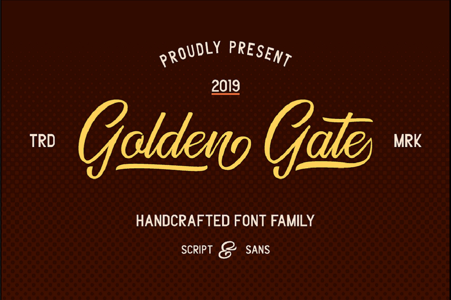Golden Gate   Handcrafted Font Familyy example image 1