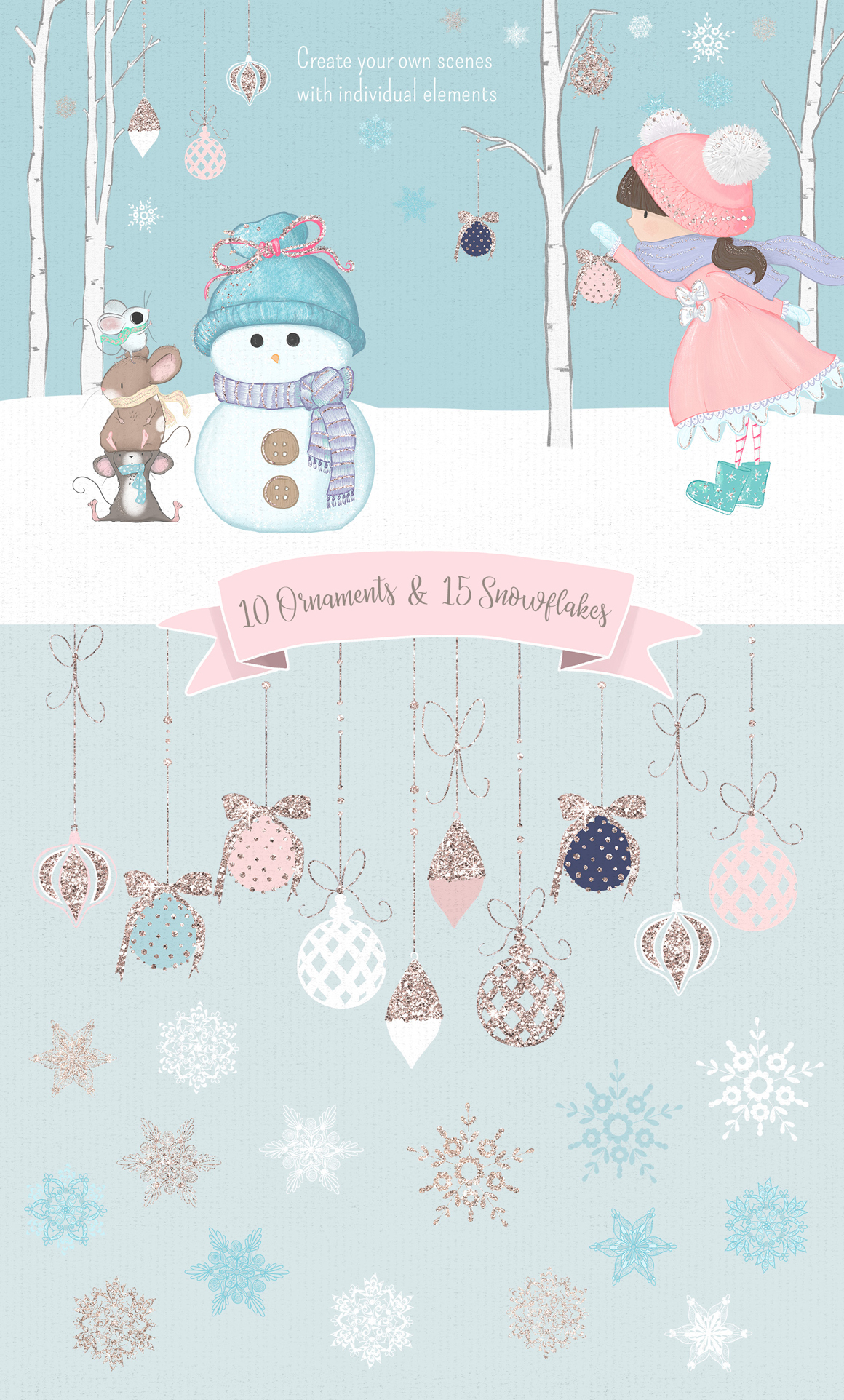 Winter Whimsy Clipart Collection example image 7