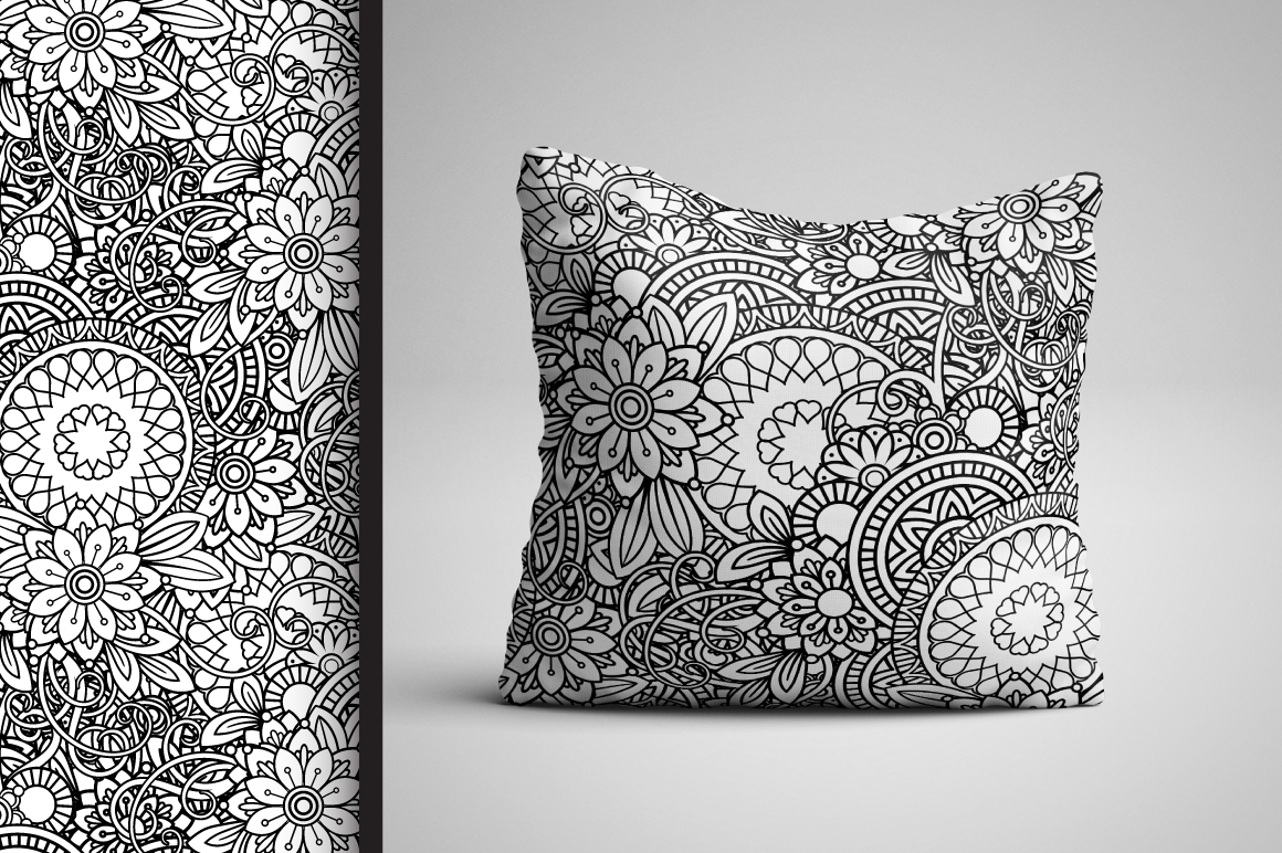 Floral Seamless Patterns example image 3