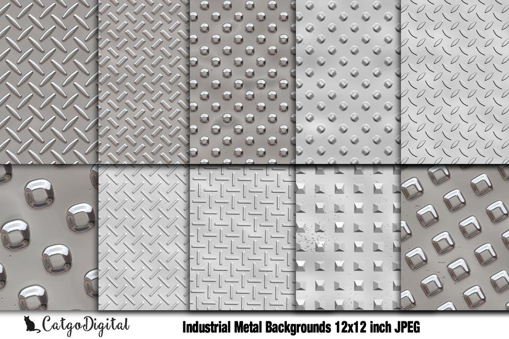 Industrial Metal Background Digital Scrapbooking Pack 12x12
