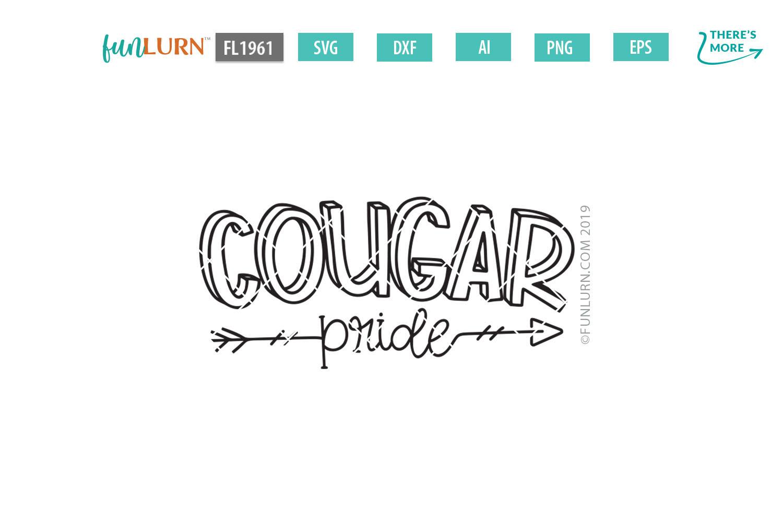 Cougar Pride Team SVG Cut File example image 2