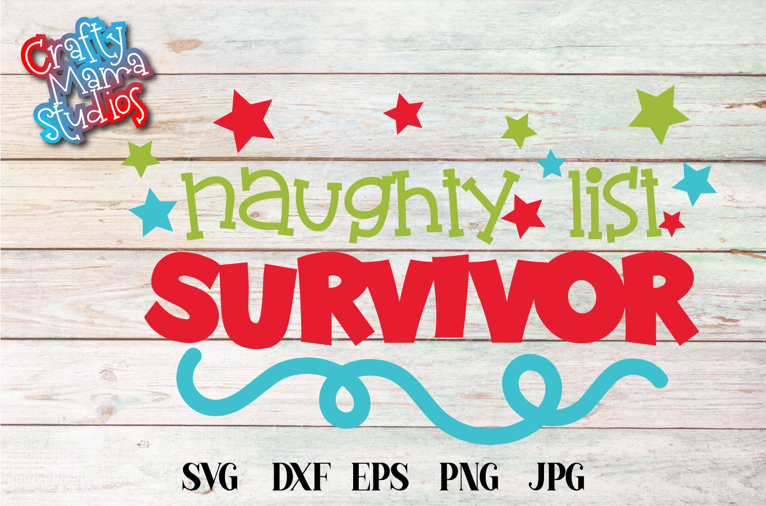 Christmas SVG, Naughty List Survivor SVG, Santa's List example image 2