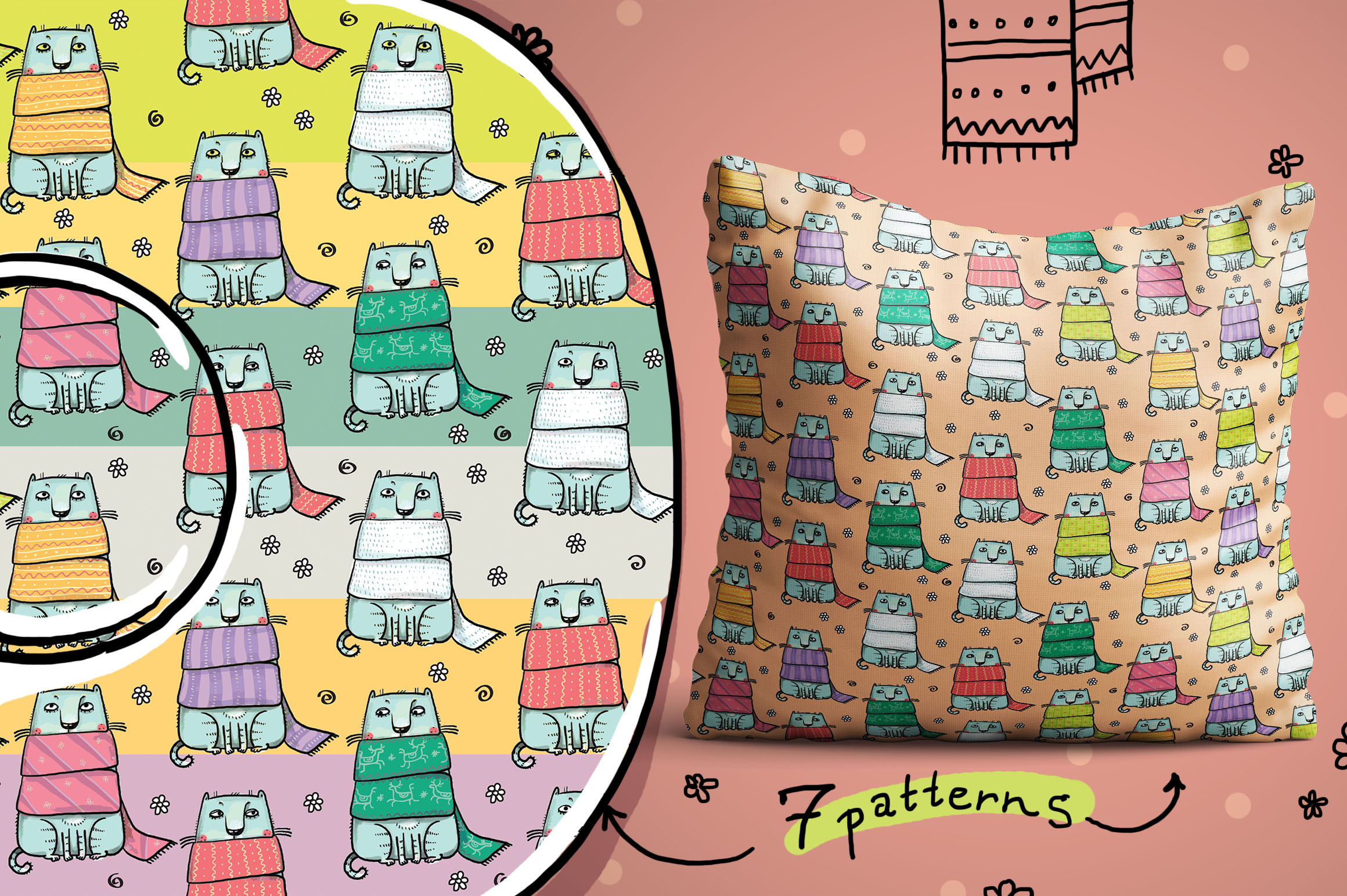 The Siberian Cat patterns example image 4