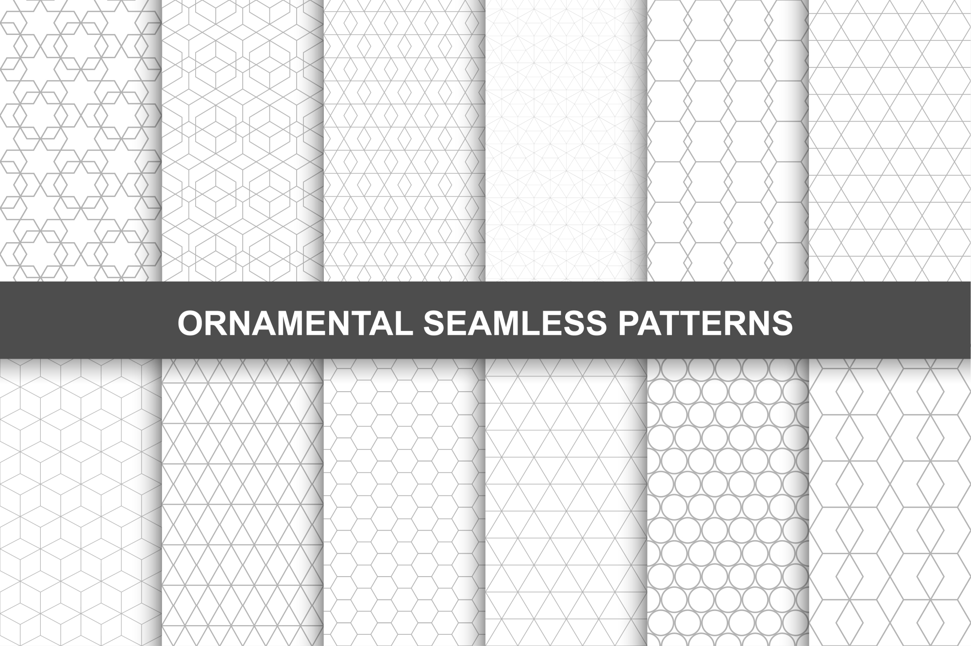 Ornamental seamless patterns. example image 1