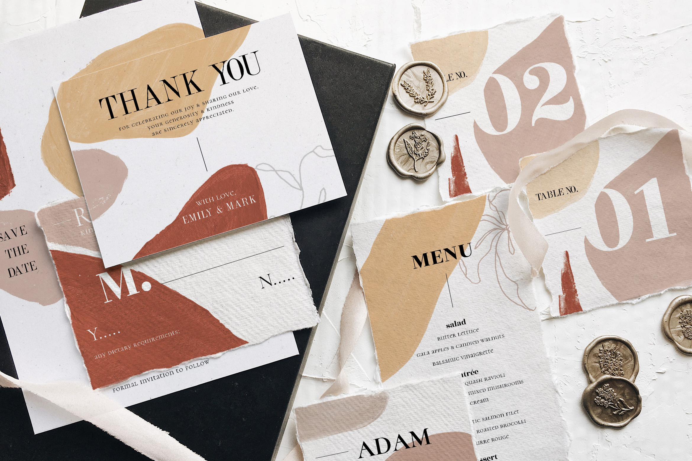 Modern Abstract Wedding Suite example image 3