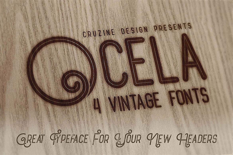 Ocela Typeface example image 4