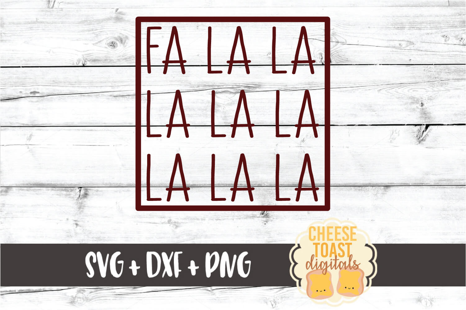 Fa La La La La La La La La - Christmas SVG PNG DXF Cut Files example image 2