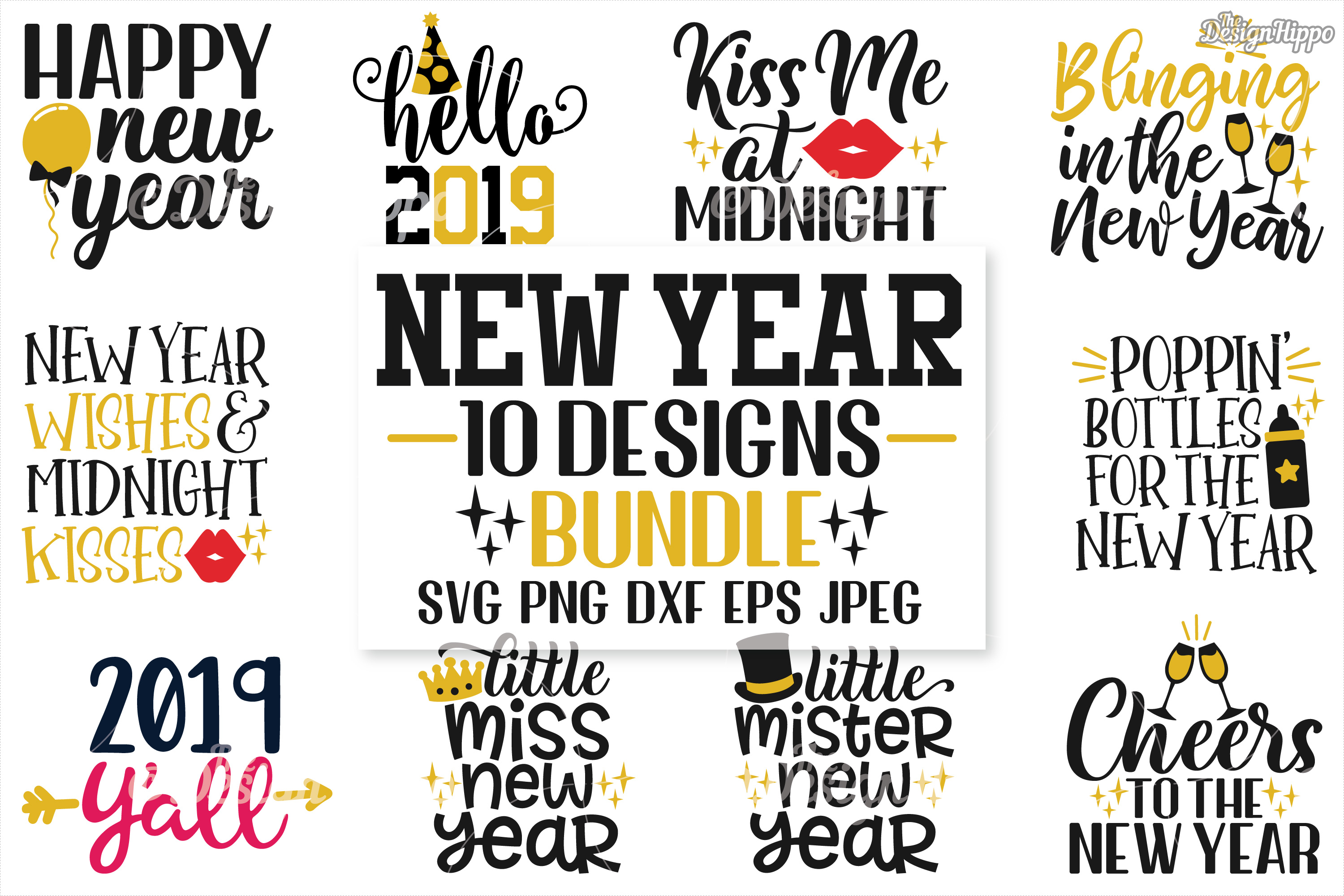 new years eve bundle svg png eps dxf jpeg cutting files example image 1