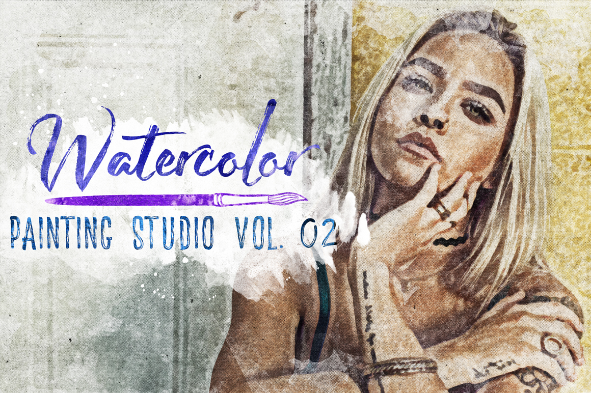 Watercolor Painting Studio Vol. 02 example image 1