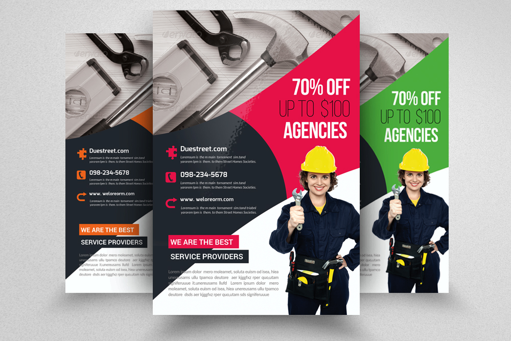 Handyman & Plumber Services Flyer example image 1