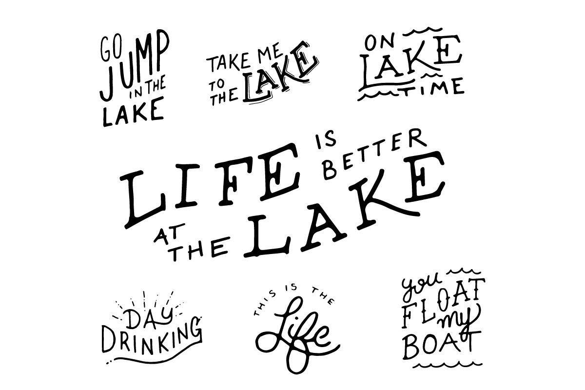 Lake Life Lettering Pack example image 2