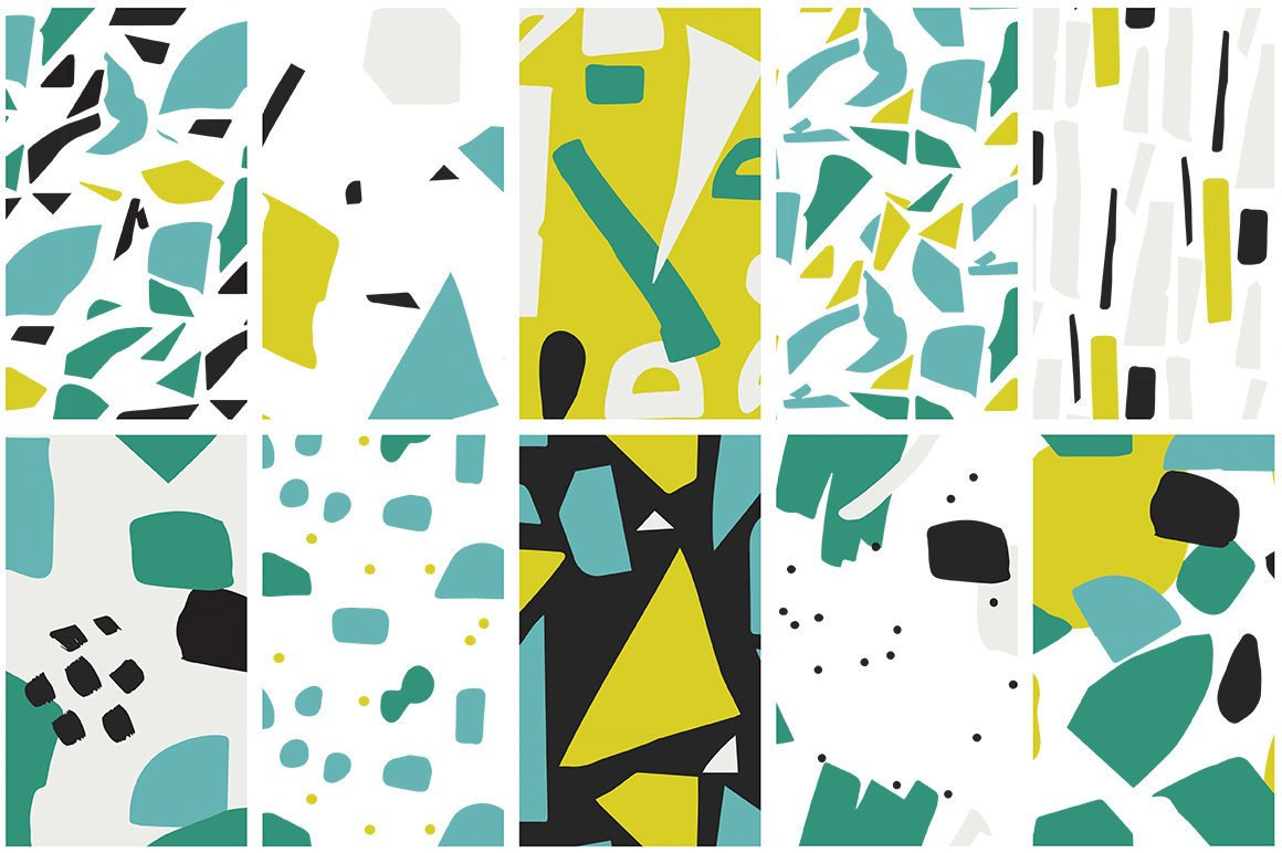 Collage Colorful Patterns example image 6