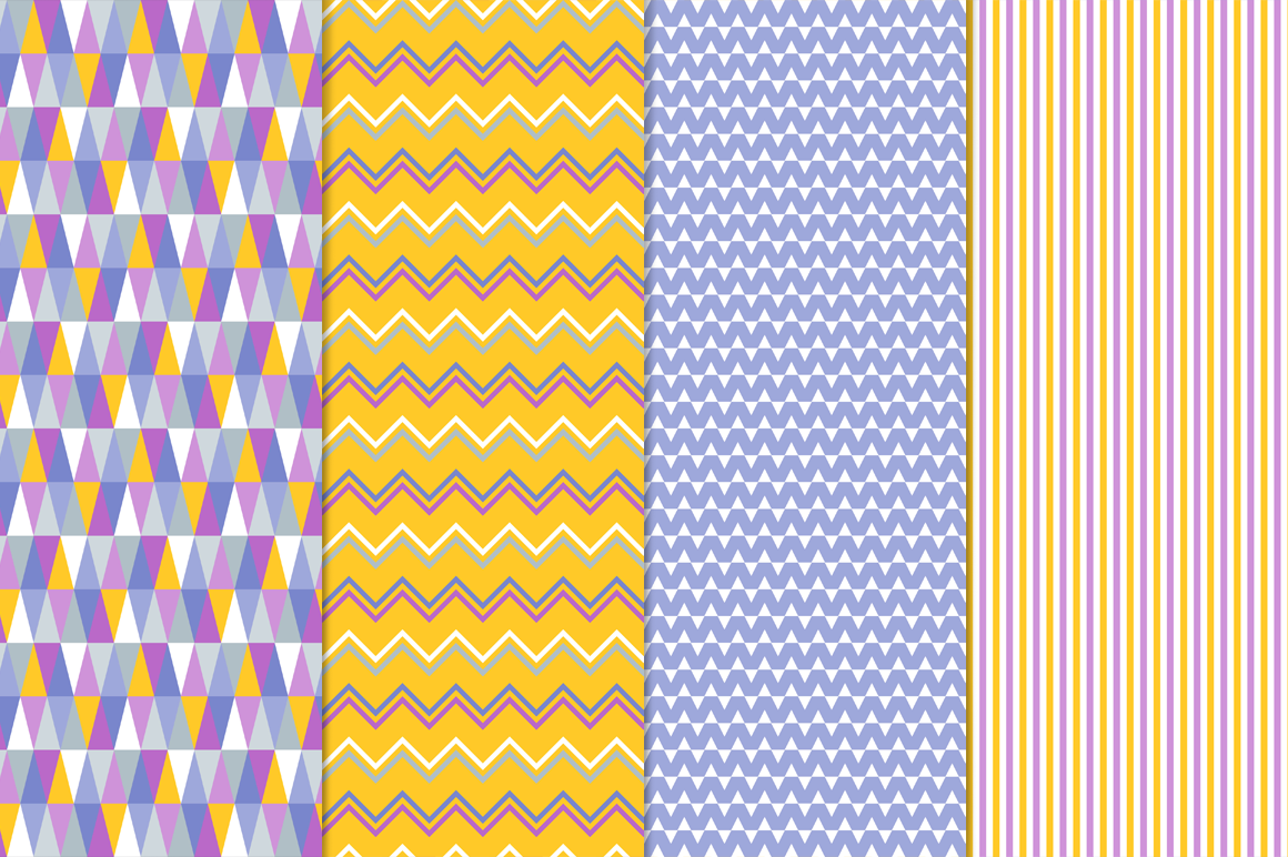 16 Vector Seamless Patterns - Set 1 example image 2